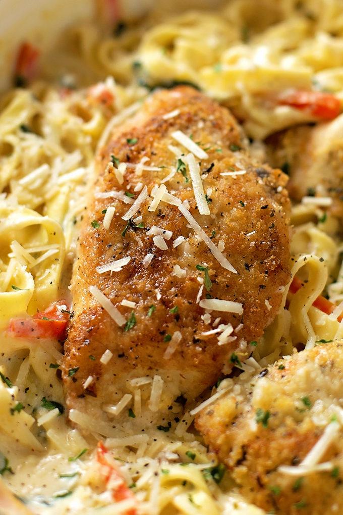 Copycat Olive Garden Tuscan Garlic Chicken | lifemadesimplebakes.com