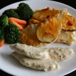 Creamy Mustard Chicken + Ham & Cheese Scalloped Potatoes