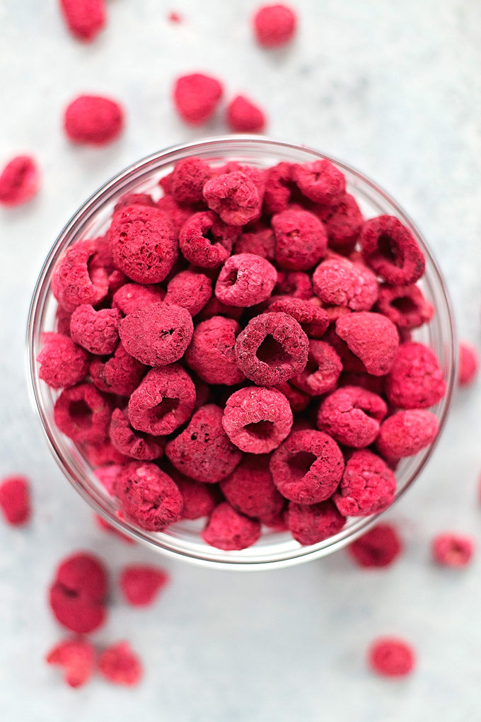 Freeze-dried raspberries make the perfect raspberry frosting | lifemadesimplebakes.com
