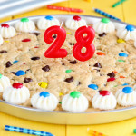 He's 28 + a Cookie Cake!