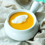 Butternut Squash Soup with Spiced Cream