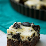 Oreo Cheesecake Topped Brownies