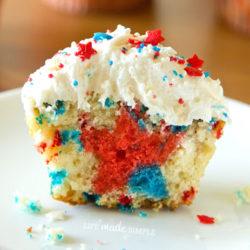 Patriotic Funfetti Cupcakes