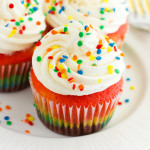 Rainbow Cupcakes with Vanilla Buttercream