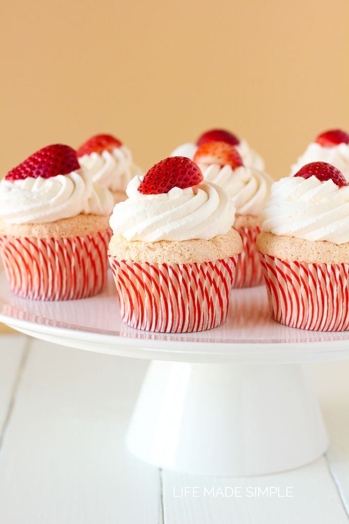 Angel Food Cupcakes - Life Made Simple