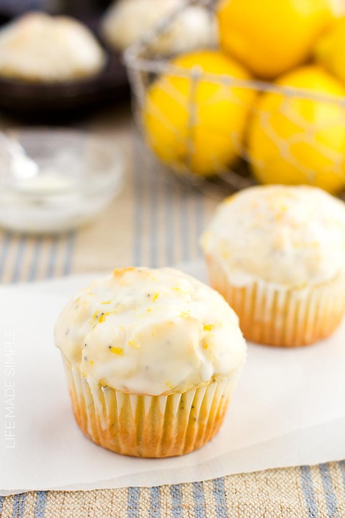 Lemon Coconut Poppy Seed Muffins