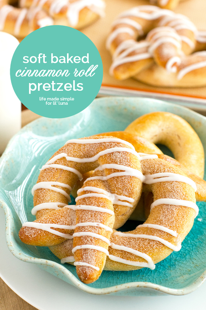 Soft Baked Cinnamon Roll Pretzels