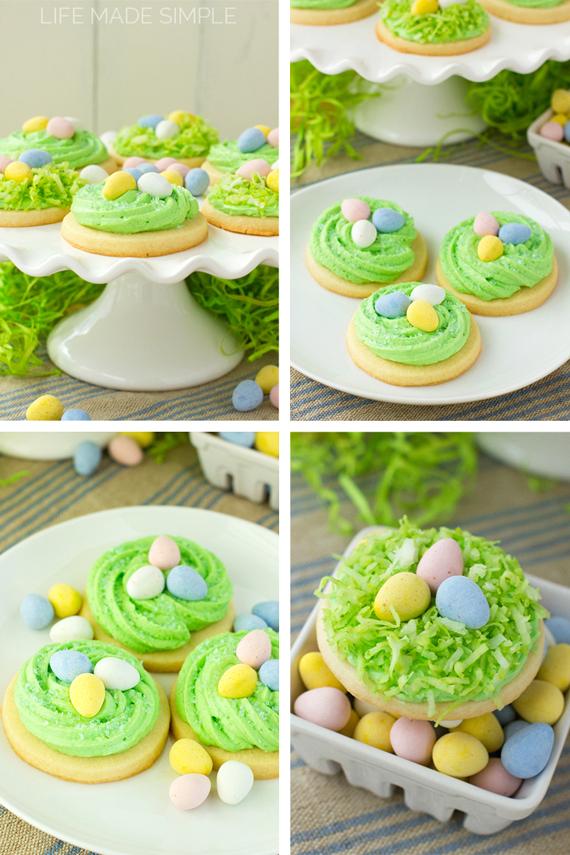 Bird's Nest Sugar Cookies