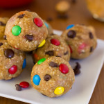 Monster Cookie Dough Energy Bites