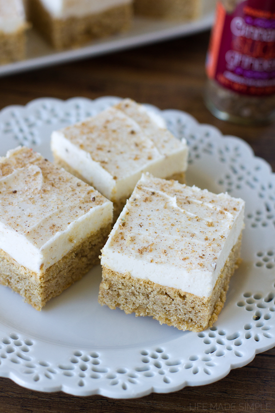 Soft & Thick Frosted Snickerdoodle Bars