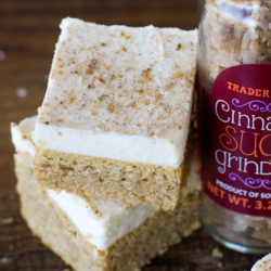 Frosted Snickerdoodle Bars