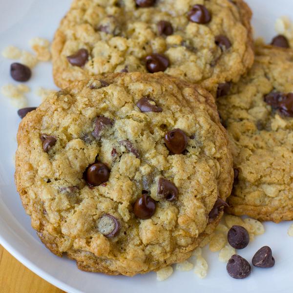 Rice Crispy Chocolate Chip Oatmeal Cookies