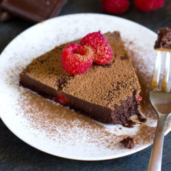 Flourless Nutella Raspberry Cake
