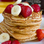 Fluffy Whole Wheat Banana Pancakes (100% Whole Wheat)