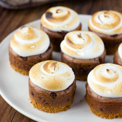 Mini Nutella S'mores Cheesecakes