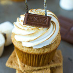 Nutella Filled S'mores Cupcakes
