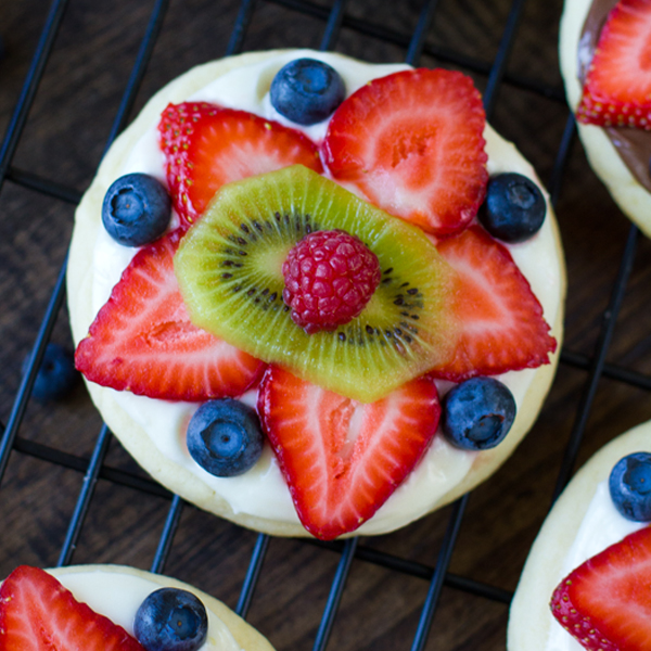 Sugar Cookie Fruit Pizzas - Life Made Simple
