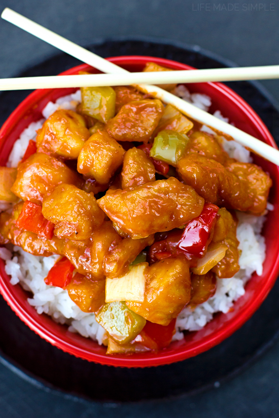 Better Than Takeout Sweet and Sour Chicken - Life Made Simple