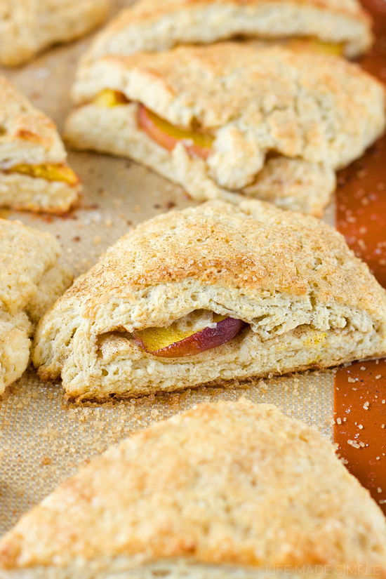 Peaches and Cream Biscones