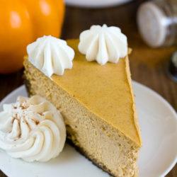 Pumpkin Pie Cheesecake with Gingersnap Crust