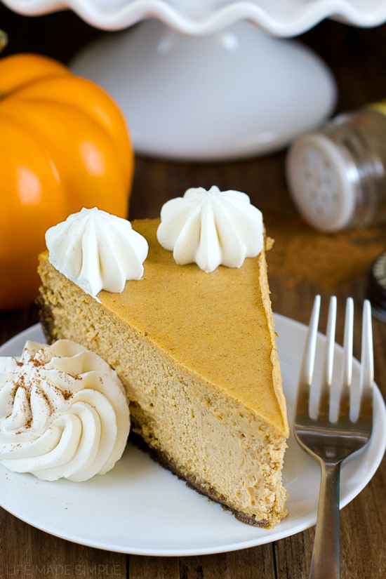 Pumpkin Pie Cheesecake with Gingersnap Crust