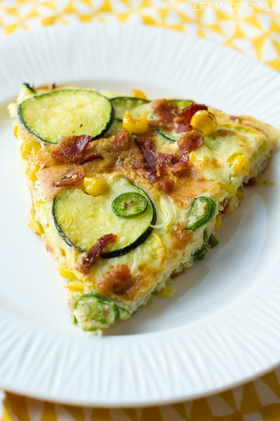 Spicy Zucchini Frittata - Life Made Simple