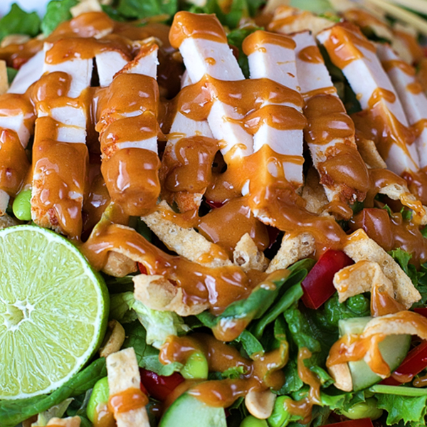 Thai Chicken Salad With Peanut Dressing Life Made Simple