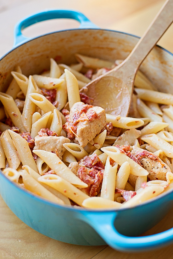 Creamy Sun-Dried Tomato Penne with Chicken - Life Made Simple