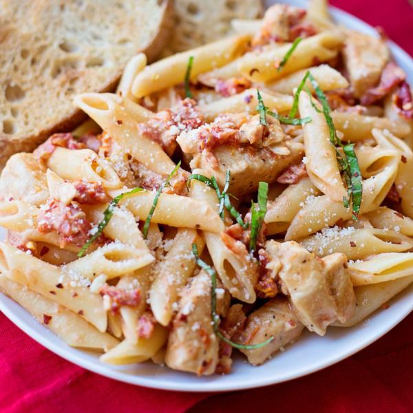 recipe: sun dried tomato basil chicken pasta recipe [15]