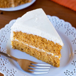 Pumpkin Layer Cake with Maple Vanilla Bean Frosting