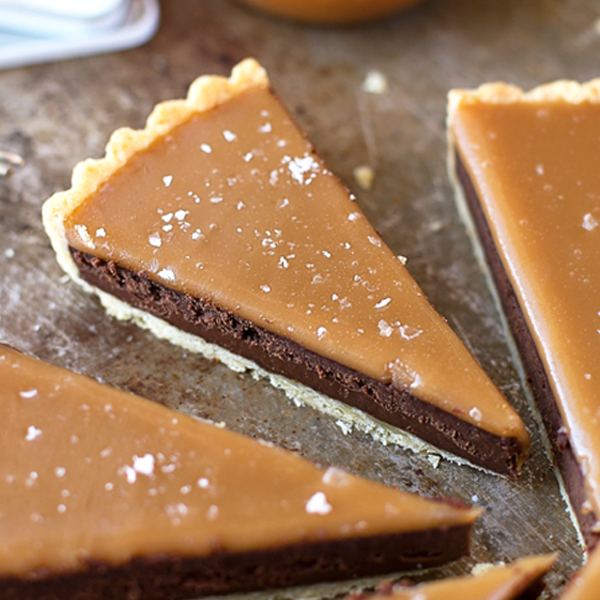 Salted Caramel Bittersweet Chocolate Tart - Life Made Simple