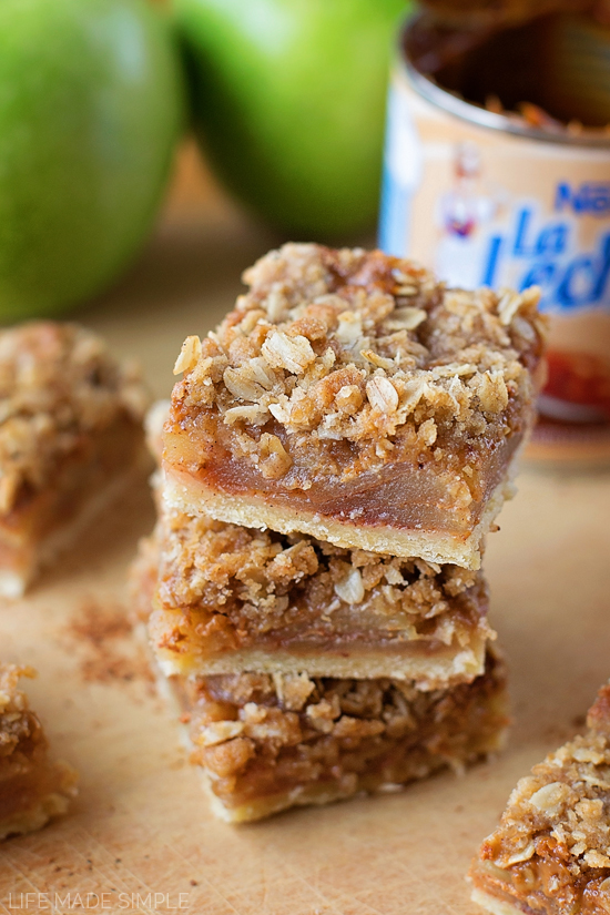 Dulce De Leche Apple Pie Bars