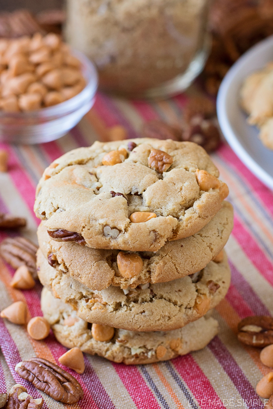 Brown Sugar Butterscotch Pecan Cookies