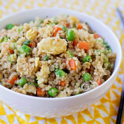 "Easy Quinoa ""Fried Rice"""