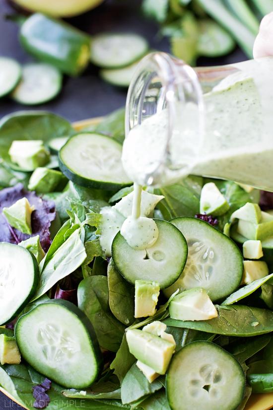 Healthy Greek Yogurt Green Goddess Salad