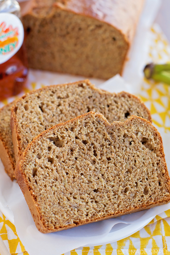 Honey Whole Wheat Banana Bread