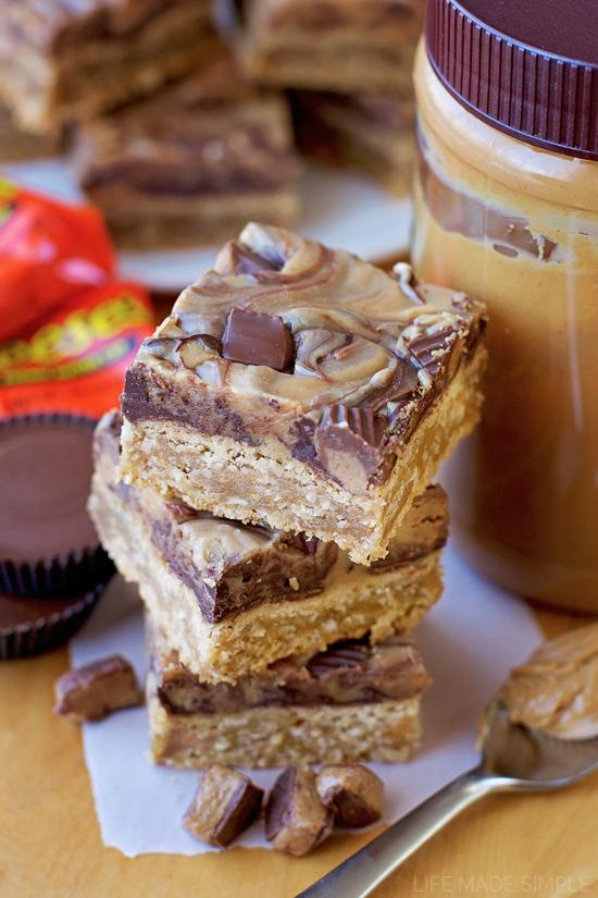 Reese's Peanut Butter Oatmeal Bars