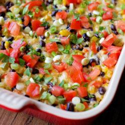 Southwestern Burrito Bowl Bake