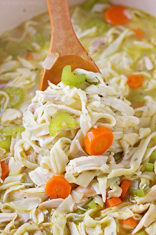 Homemade Chicken Noodle Soup Life Made Simple