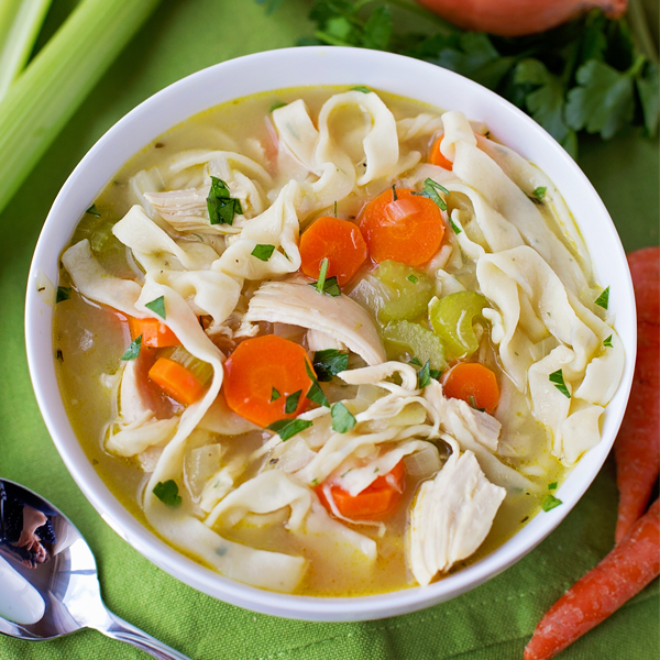 Homemade chicken noodle soup life made simple for How to make homemade chicken noodle soup