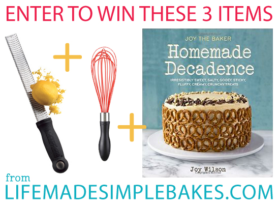 Joy The Baker: Homemade Decadence Cookbook Giveaway