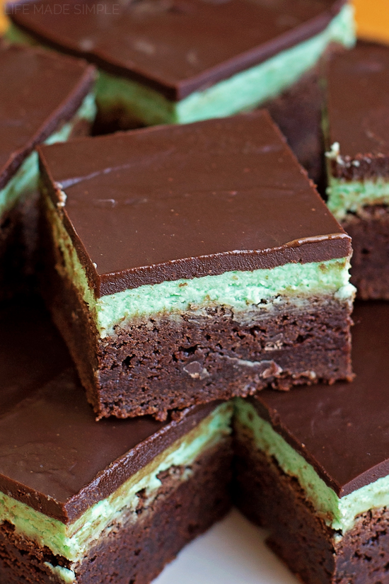 Mint Chocolate Brownies | lifemadesimplebakes.com