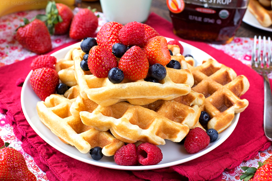 The BEST Buttermilk Waffles