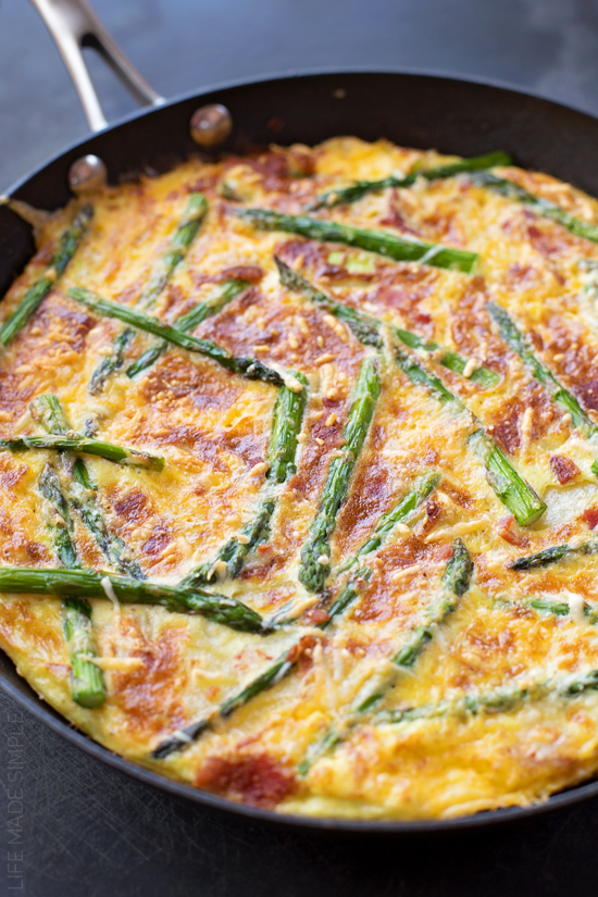 Asparagus Bacon Potato Frittata