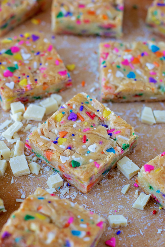 Funfetti Birthday Cake Blondies Life Made Simple