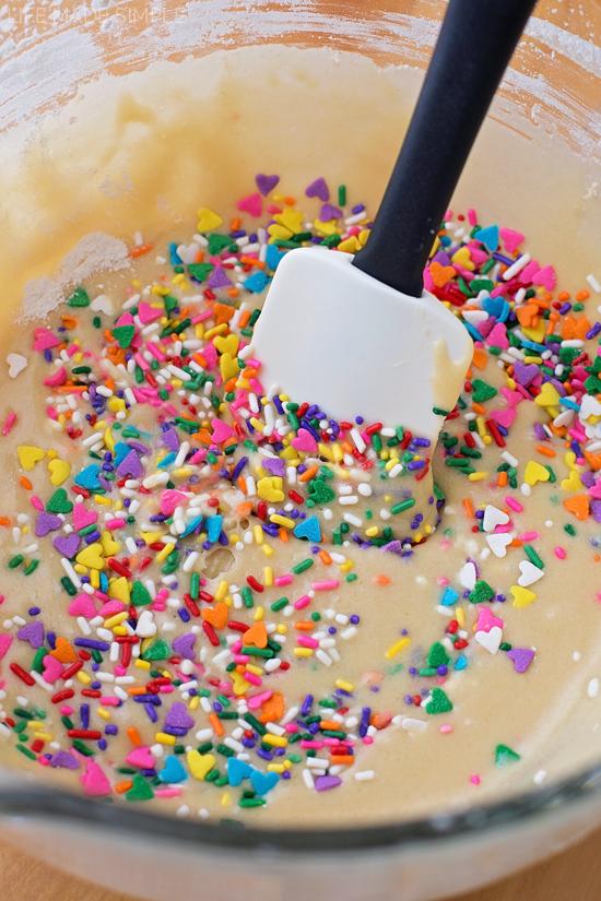 Funfetti Birthday Cake Blondies
