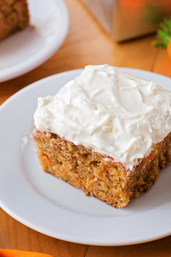 Carrot Cake Sheet With Pineapple Cream Cheese Frosting
