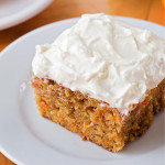 Carrot Cake Sheet Cake with Pineapple Cream Cheese Frosting
