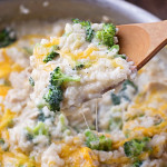 Creamy Chicken Broccoli and Rice Skillet