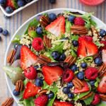 Berry Pecan Quinoa Salad with Homemade Berry Vinaigrette